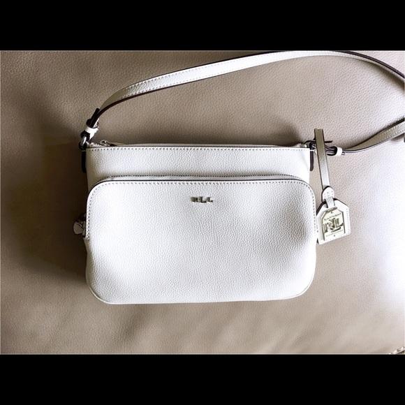 4025f51748a Lauren Ralph Lauren Handbags - Lauren Ralph Lauren White Leather Crossbody  Purse